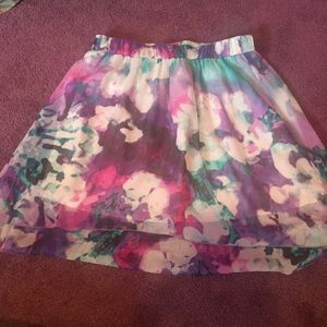 Maurice's high low watercolor skirt